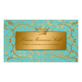311 Golden diVine Turquoise Rapture Double-Sided Standard Business Cards (Pack Of 100)