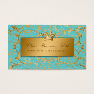 311 Golden diVine Turquoise Rapture Business Card