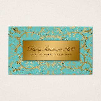 311-Golden diVine Turquoise Rapture Business Card