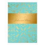 311-Golden diVine | Turquoise Rapture 5x7 Paper Invitation Card