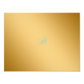 311-Golden diVine Turquoise Rapture RSVP card
