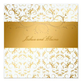 311-Golden diVine White Delight  5.25 x 5.25 Card