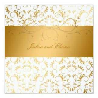311-Golden diVine White Delight  5.25 x 5.25 Invitation