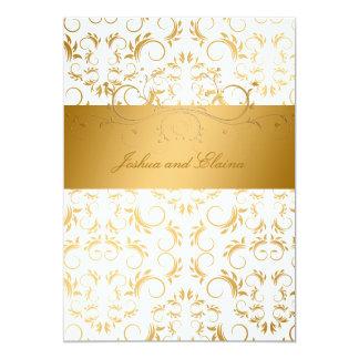 311-Golden diVine | White Delight 5x7 Paper Invitation Card