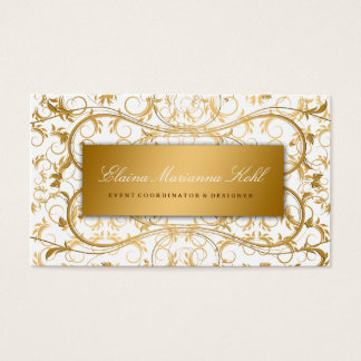 311 Golden diVine White Delight Business Card