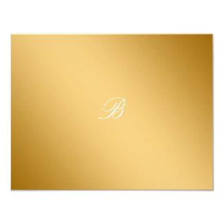 311-Golden diVine White Delight  RSVP card