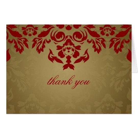 311-Golden Flame Thank You Card