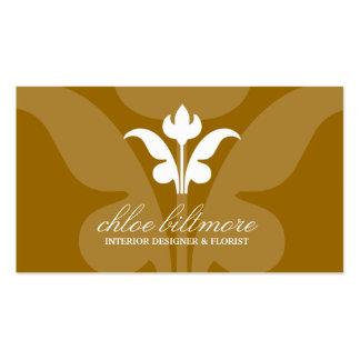 311 Golden Floral Flare Business Cards