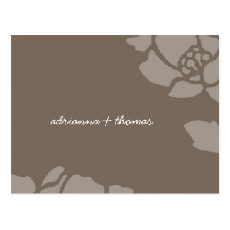 311-GOLDEN FLORAL IMPRINT SAVE THE DATE OR THANK U POST CARD