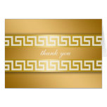 311-Golden Greek Key Greeting Card