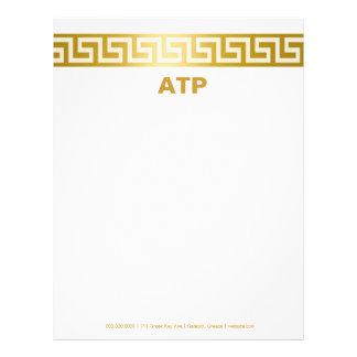 311-Golden Greek Key Letterhead