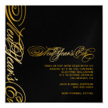 "311 Golden New Year's Eve 5.25"" Square Invitation Card"