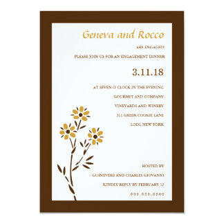 311-GOLDEN PASSION FLOWER 5X7 PAPER INVITATION CARD