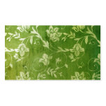 311-Gorgeous Green Floral Vintage Name Card Business Card