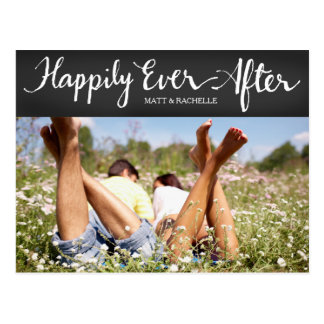 311 Gray Happily Ever After Floral Thank You Postcard
