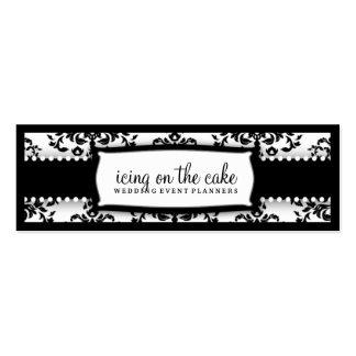 311 guinda del pastel Tage blanco negro Tarjetas De Visita Mini