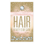 311 Hair Vintage Glam Gold Glitter Pink Business Card