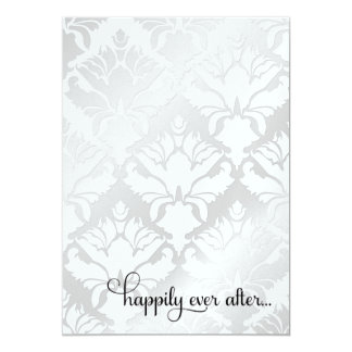 311 Happily Ever After Bridal Shower Metallic 5x7 Paper Invitation Card
