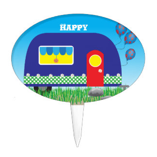 311 Happy Camper Cute Cool Gifts Cake Toppers