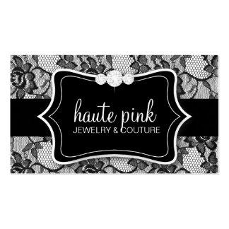 311 Haute Black Lace & Diamonds Business Card