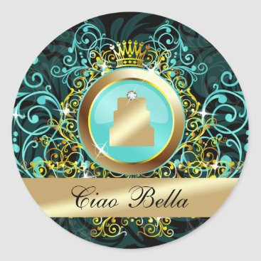 Professional Business 311 Haute Cakes Sticker Aqua