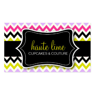 311 Haute Chevron Pattern Business Card