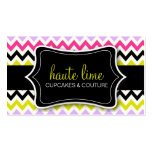 311 Haute Chevron Pattern Business Cards