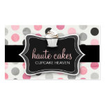 311 Haute Cupcakes Pink Polka Dots Business Cards