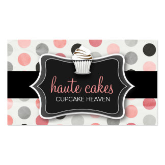 311 Haute Cupcakes Polka Dots Business Card