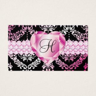 311 Haute Heart Hot Pink Lips Metallic Business Card