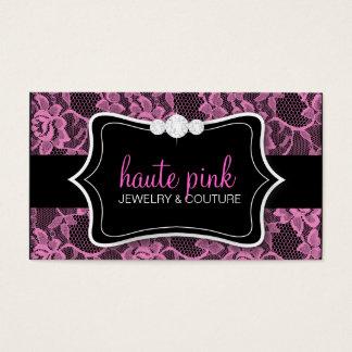 311 Haute Pink Lace & Diamonds Business Card