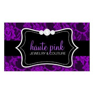 311 Haute Purple Lace & Diamonds Business Card