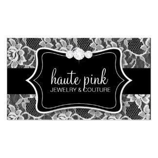 311 Haute White Lace & Diamonds Business Card