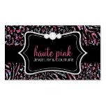 311 Haute Zebra Leopard Pink Business Card