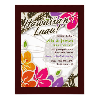 311 Hawaiian Heaven Invitation | Brown