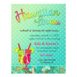 311 Hawaiian Luau Turquoise Custom Announcement