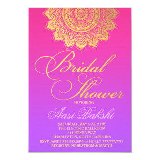 Henna party invitations announcements zazzle 311 henna pink purple ombre card stopboris Choice Image