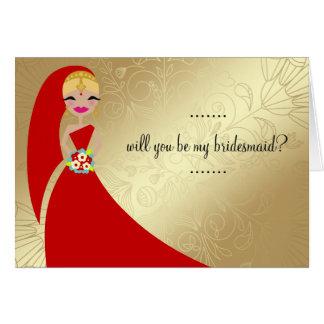 311 Henna Updo Blonde Indian Greeting Card