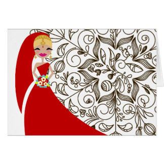 311 Henna Version 2 Updo Blonde Indian Greeting Card
