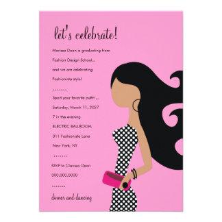 311-HIGH FASHIONISTA INVITATION | Posh Pink