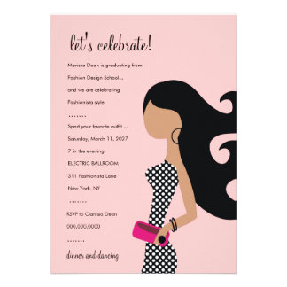 311-HIGH FASHIONISTA Invite | Powder My Nose Pink