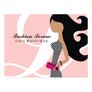 311-High Fashionista Powder my Nose pink Post Card