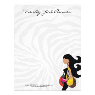 311-HIGH FASHIONISTA Purses Zebra Letterhead