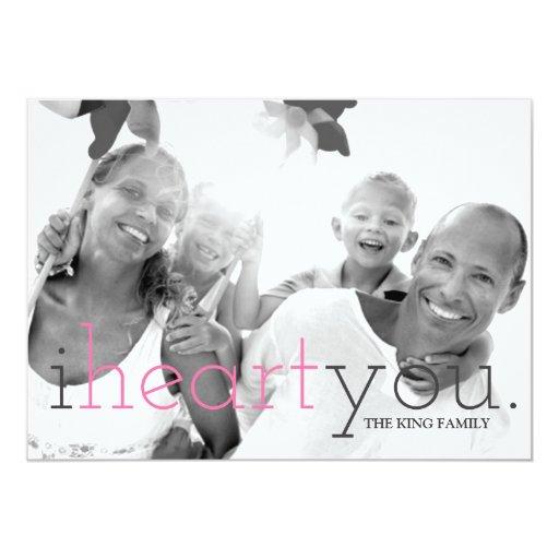 311 I Heart You Valentine Photo Card
