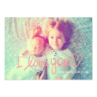 311 I Love You Peach Valentine Family Card