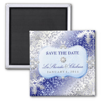 311 Ice Princess Winter Save the Date 2 Inch Square Magnet