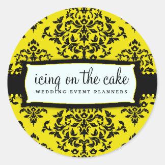 311-Icing en la torta - abeja Etiquetas Redondas