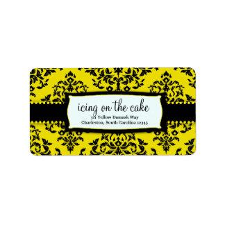 311-Icing en la torta - etiqueta de dirección de l