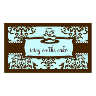 311 Icing on the Cake 3 Tier Chocolate Blue Business Card
