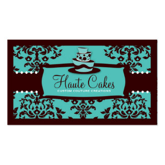 311 Icing on the Cake 3 Tier Turquoise and Brown Business Card